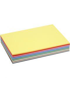Cartoncino colorato, A4, 210x297 mm, 180 g, colori asst., 30 fgl. asst./ 1 conf.