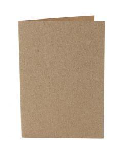 Biglietti, dim. cartoncino 10,5x15 cm, 220 g, natural, 10 pz/ 1 conf.