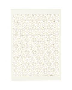 Cartoncino con motivo a pizzo, 10,5x15 cm, 200 g, avorio, 10 pz/ 1 conf.