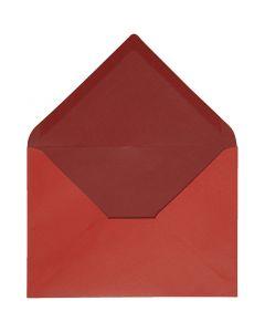 Busta, dim. busta 11,5x16 cm, 100 g, rosso/porpora, 10 pz/ 1 conf.
