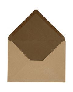 Busta, dim. busta 11,5x16 cm, 100 g, sabbia/marrone, 10 pz/ 1 conf.