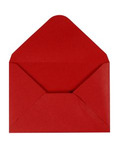 Busta, dim. busta 11,5x16 cm, 110 g, rosso, 10 pz/ 1 conf.