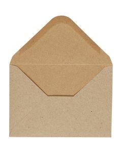 Busta, dim. busta 11,5x16 cm, 110 g, natural, 10 pz/ 1 conf.