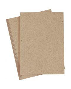 Cartoncino colorato, A4, 210x297 mm, 220 g, natural, 10 pz/ 1 conf.