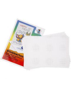 Cartoncino punto croce, misura 23x33 cm, 3x3 buchi per cm , bianco, 10 fgl./ 1 conf.