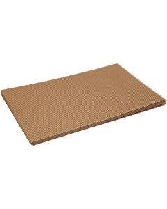 Cartoncino corrugato, 25x35 cm, 120 g, 10 fgl./ 1 conf.