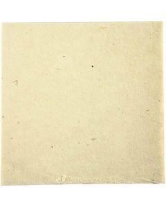 Carta tessuto fatta a mano, 20x20 cm, 70 g, avorio, 10 fgl./ 1 conf.