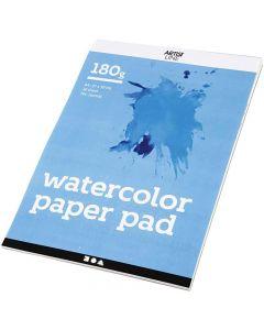 Blocco di carta per acquerelli, A4, 210x297 mm, 180 g, bianco, 20 fgl./ 1 pz