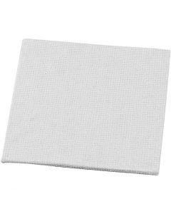 Pannello telato, misura 10x10 cm, 280 g, bianco, 1 pz