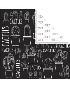 Carta fantasia, cactus, 180 g, 5 fgl./ 1 conf.