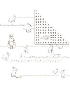 Carta fantasia, coniglietto, 30,5x30,5 cm, 180 g, 5 fgl./ 1 conf.