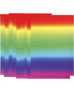 Cartoncino arcobaleno, A4, 210x297 mm, 180 g, 10 fgl./ 1 conf.
