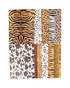 Cartoncino motivo animale, A4, 210x297 mm, 300 g, 10x100 fgl./ 1 conf.