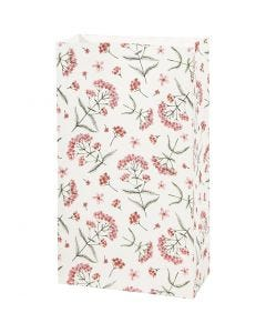 Buste carta, fiori, H: 21 cm, misura 6x12 cm, 80 g, 8 pz/ 1 conf.