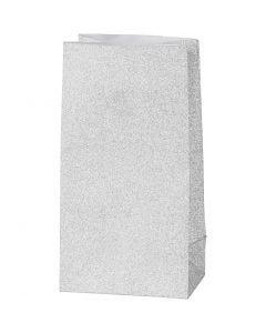 Buste carta, H: 17 cm, misura 6x9 cm, 120 g, argento, 8 pz/ 1 conf.