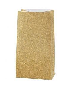 Buste carta , H: 17 cm, misura 6x9 cm, 170 g, oro, 8 pz/ 1 conf.