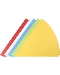 Coni, H: 68 cm, diam: 20 cm, colori asst., 5 pz/ 1 conf.