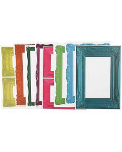 Cornici, misura 26,2x18,5 cm, colori forti, 16 fgl. asst./ 1 conf.
