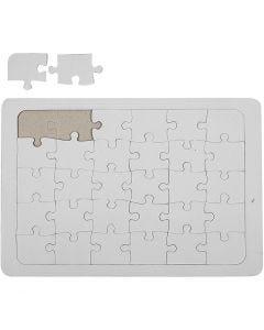 Puzzle a mosaico, bianco, 1 pz