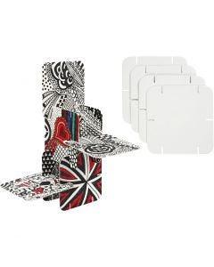 Pezzi per costruire, misura 9,3x9,3 cm, bianco, 20 pz/ 1 conf.