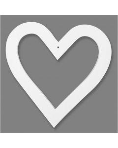 Cornice a forma di cuore, misura 18x18 cm, 230 g, bianco, 16 pz/ 1 conf.
