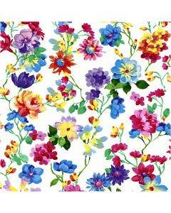 Tovaglioli da tavolo, Prato fiorito, misura 33x33 cm, 20 pz/ 1 conf.