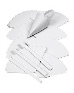 Coni , H: 13 cm, diam: 8 cm, bianco, 240 pz/ 1 conf.