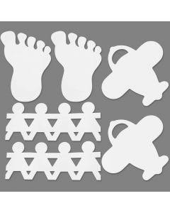 Figure fustellate, misura 12-27 cm, bianco, 96 pz/ 1 conf.
