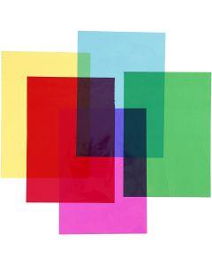 Cellophane, 210x297 mm, colori asst., 5x20 fgl./ 1 conf.