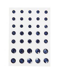 Brillantini, cono rotondo, misura 6+8+10 mm, blu, 35 pz/ 1 conf.