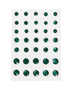 Brillantini, cono rotondo, misura 6+8+10 mm, verde, 35 pz/ 1 conf.