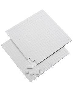 Cubotti adesivi 3D, misura 5x5 mm, spess. 2 mm, bianco, 2 fgl./ 1 conf., 2x400 pz