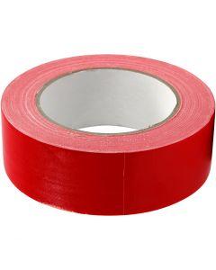 Nastro adesivo telato, L: 38 mm, rosso, 25 m/ 1 rot.