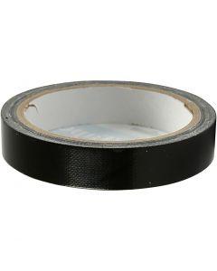 Nastro adesivo telato, L: 19 mm, nero, 25 m/ 1 rot.