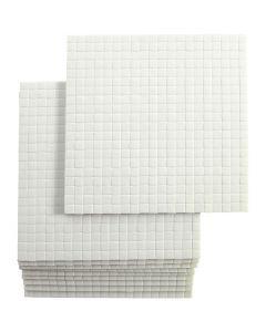 Cubotti adesivi 3D, misura 5x5 mm, spess. 3 mm, 10x400 pz/ 1 conf.