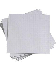 Cubotti adesivi 3D, misura 5x5 mm, spess. 1 mm, 10x400 pz/ 1 conf.