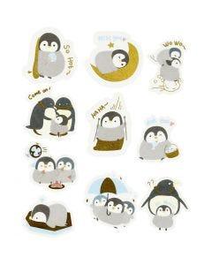 Adesivi nastro adesivo, pinguini, misura 40-53 mm, 30 pz/ 1 conf.
