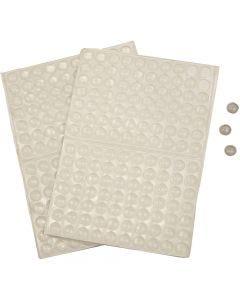 Punti colla in silicone, H: 1,5 mm, diam: 8 mm, 300 pz/ 1 conf.
