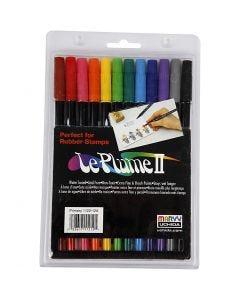 Penne La Plume II, colori forti, 12 pz/ 1 conf.