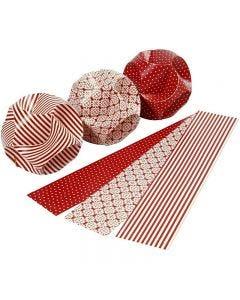 Decorazioni click, diam: 9 cm, misura 5,5x28,4 cm, 9 set/ 1 conf.