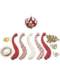 Kit decorazioni natalizie, L: 12.5 cm, L: 1,5 cm, 180 g, 12 pz/ 1 conf.