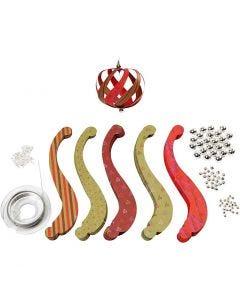 Kit strisce decorazioni natalizie, misura 12x1,5 cm, 180 g, 12 pz/ 1 conf.
