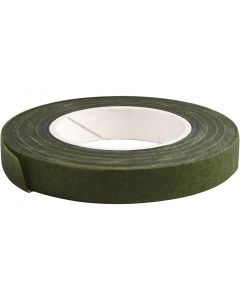Nastro Floral Tape, L: 12 mm, verde scuro, 27 m/ 1 rot.