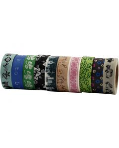 Washi Tape, L: 15 mm, 10x10 m/ 1 conf.