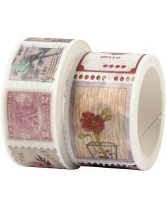 Washi Tape , L: 3+5 m, L: 20+25 mm, 2 rot./ 1 conf.