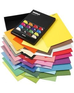 Carta Color Bar, A4, 210x297 mm, 100 g, colori asst., 16x100 fgl./ 1 conf.