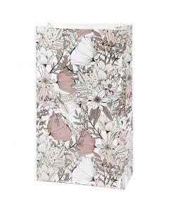 Buste carta, H: 21 cm, misura 6x12 cm, 80 g, beige, marrone, rosato, bianco, 8 pz/ 1 conf.