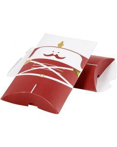 Scatoletta, Schiaccianoci, misura 14,9x9,4x2,5 cm, 300 g, oro, rosso, bianco, 3 pz/ 1 conf.