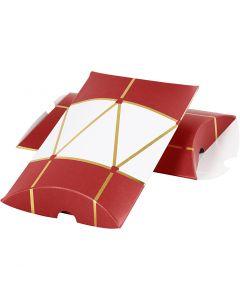 Scatoletta, Tamburo, misura 14,9x9,4x2,5 cm, 300 g, oro, rosso, bianco, 3 pz/ 1 conf.