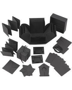 Explosion Box, misura 7x7x7,5+12x12x12 cm, nero, 1 pz